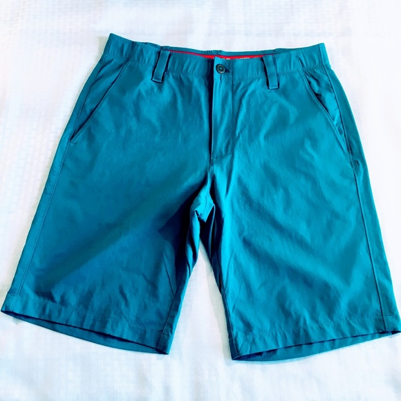 Under Armour Golf Shorts in Teal Blue Colorway